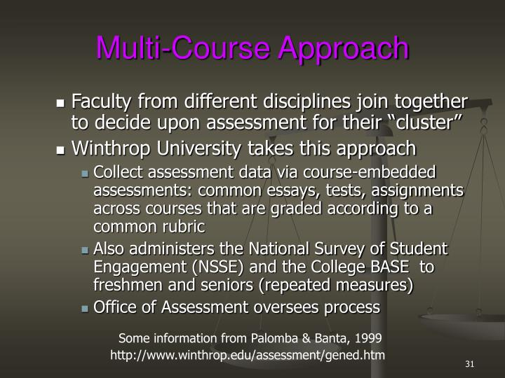 Multi-Course Approach