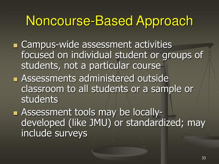 Noncourse-Based Approach