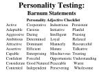 personality testing barnum statements