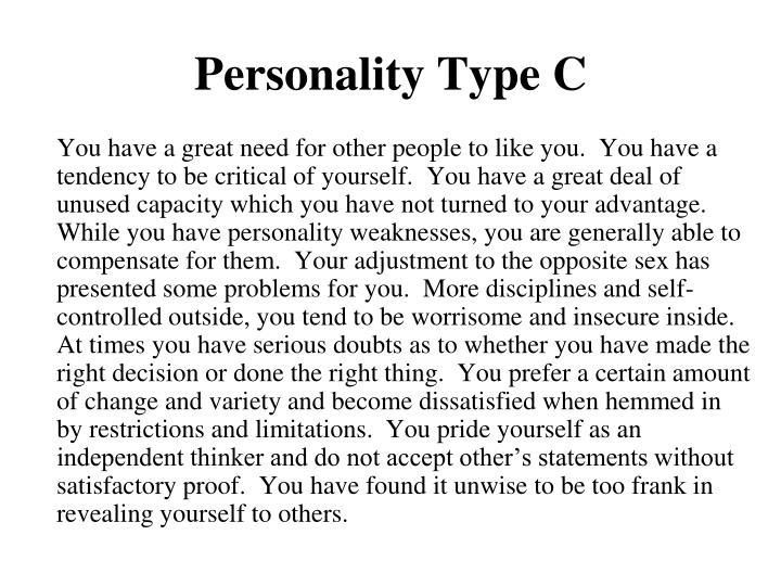 Personality Type C