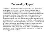 personality type c