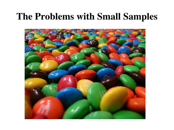 The Problems with Small Samples
