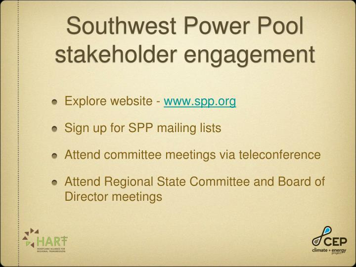 Southwest Power Pool stakeholder engagement
