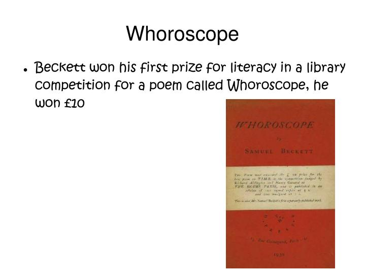 Whoroscope