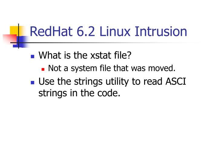RedHat 6.2 Linux Intrusion