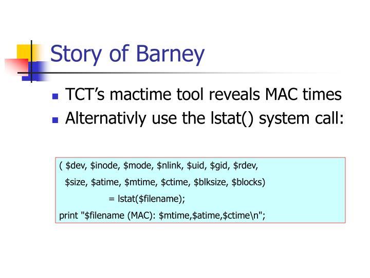 Story of Barney