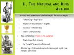 ii the natural and king arthur