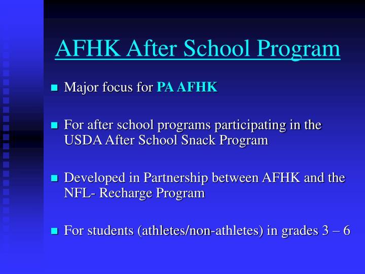 AFHK After School Program