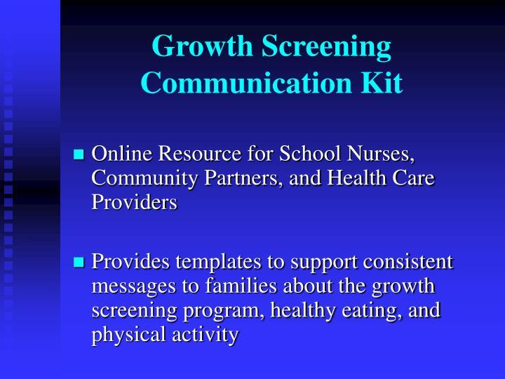 Growth Screening Communication Kit