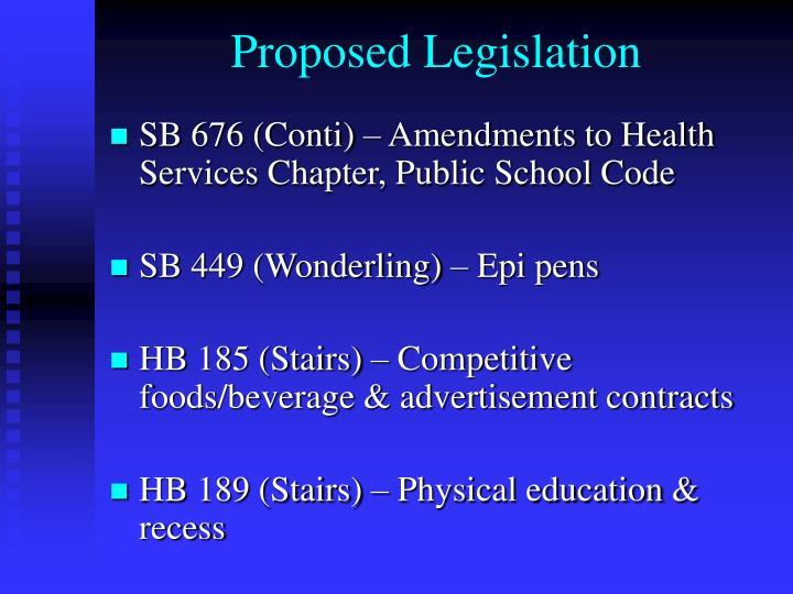 Proposed Legislation