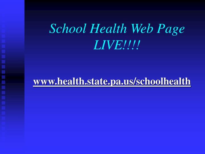School Health Web Page