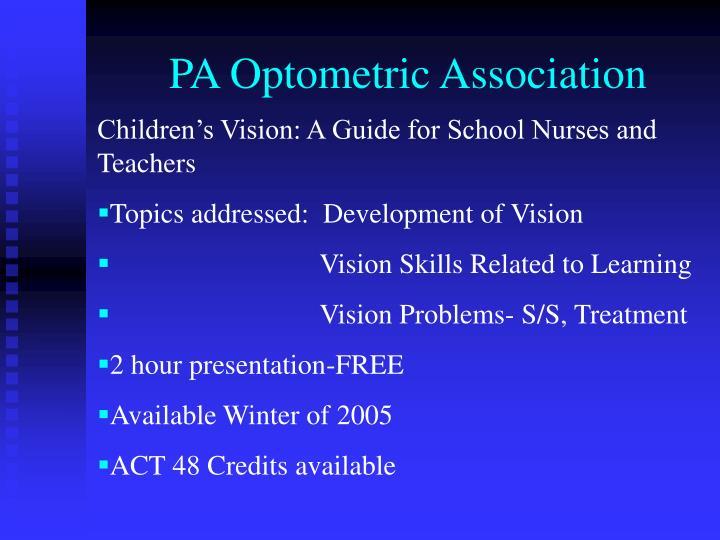 PA Optometric Association