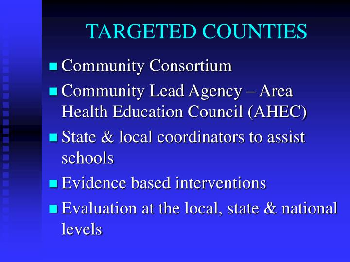 TARGETED COUNTIES