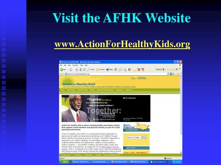 Visit the AFHK Website