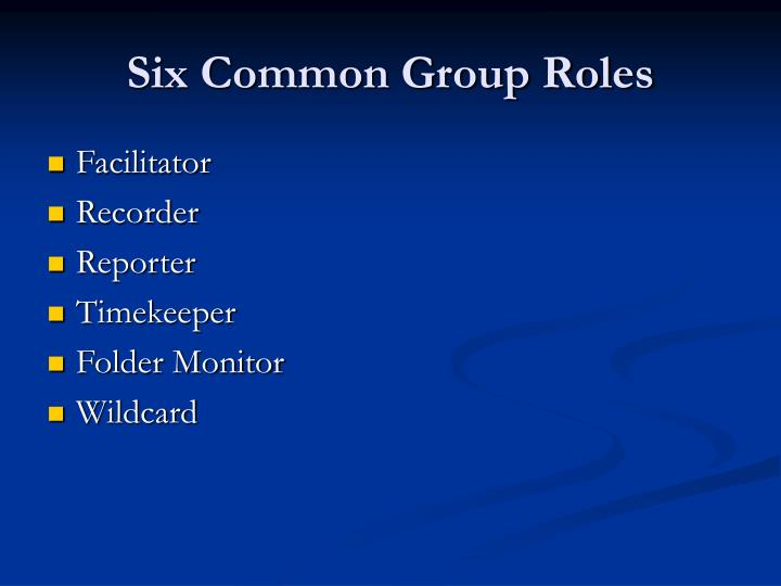 Six Common Group Roles