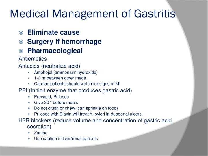 Medical Management of Gastritis