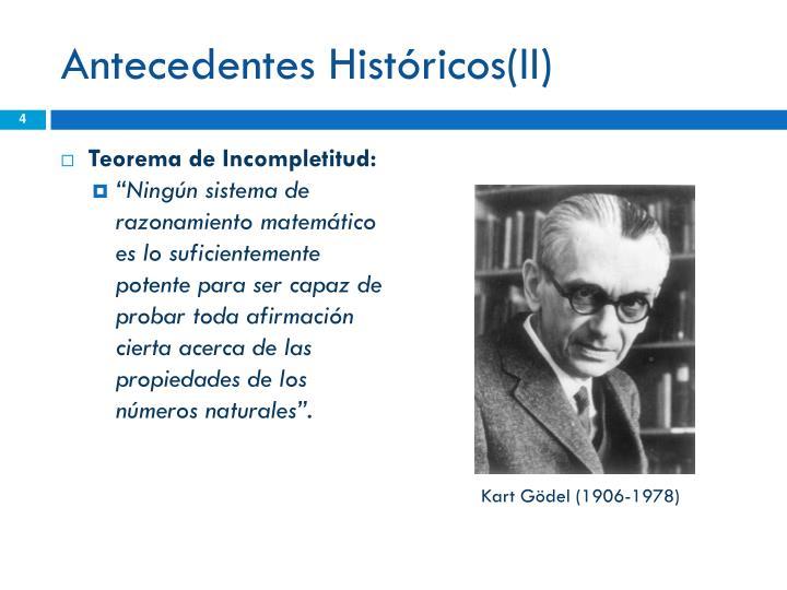 Antecedentes Históricos(II)
