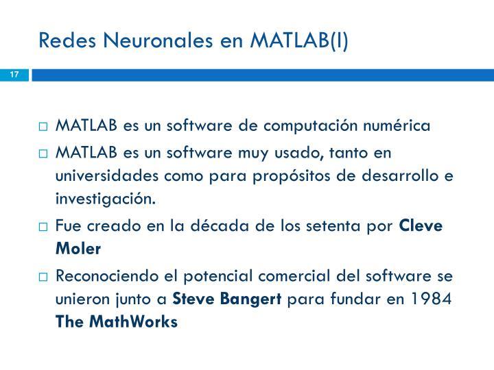 Redes Neuronales en MATLAB(I)