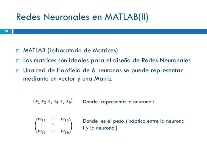 Redes Neuronales en MATLAB(II)