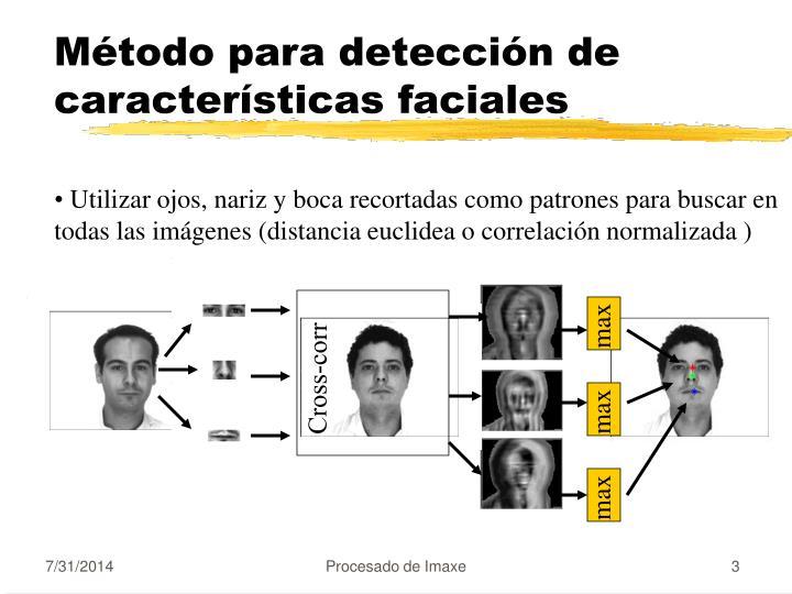 Método para detección de características faciales