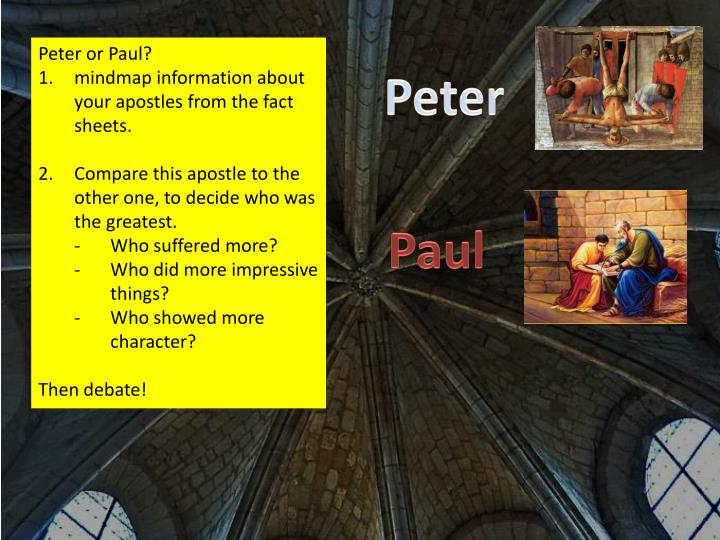 Peter or Paul?