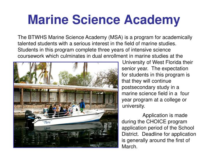 Marine Science Academy