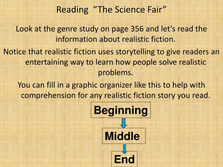 "Reading  ""The Science Fair"""
