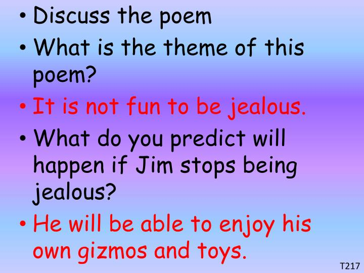 Discuss the poem