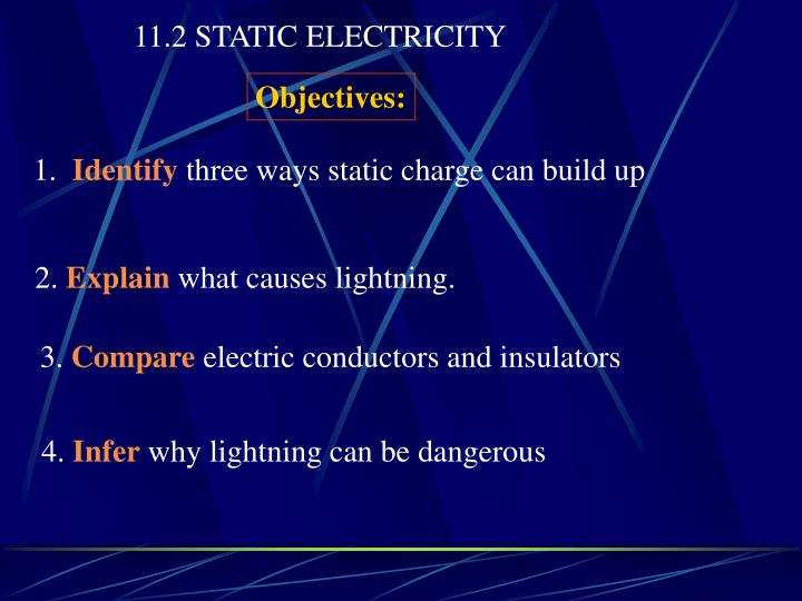 11.2 STATIC ELECTRICITY