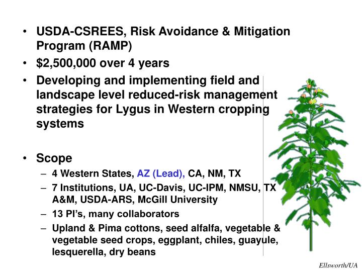 USDA-CSREES, Risk Avoidance & Mitigation Program (RAMP)