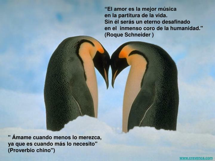 """""""El amor es la mejor música"""