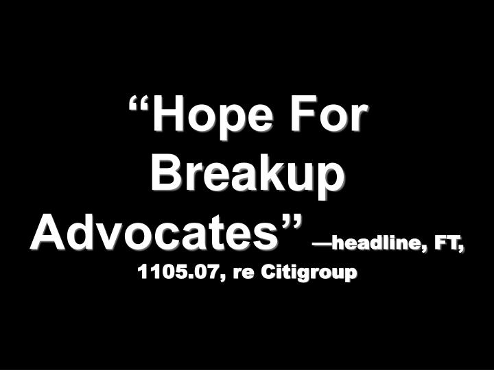 """Hope For Breakup Advocates"""