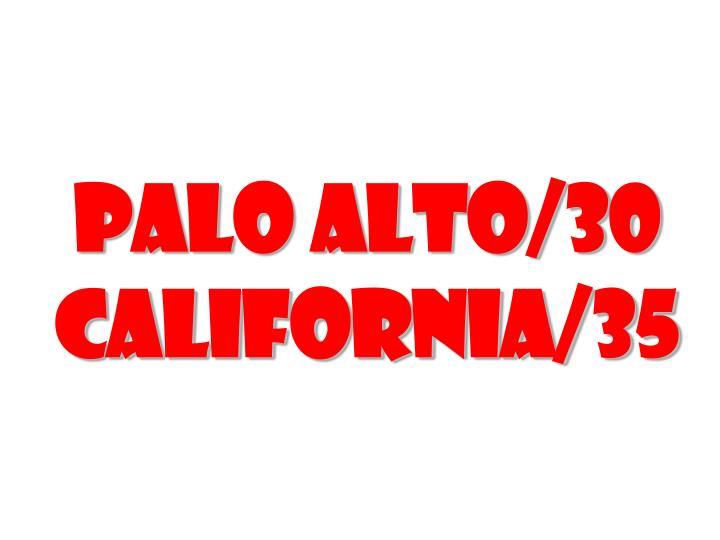 Palo Alto/30