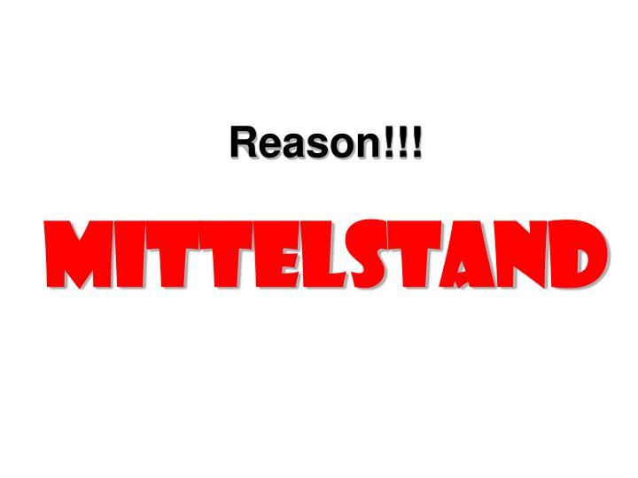 Reason!!!