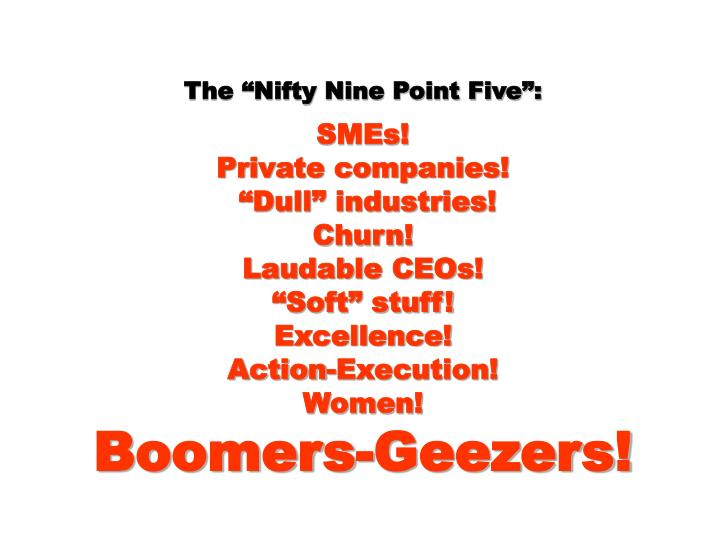 "The ""Nifty Nine Point Five"":"