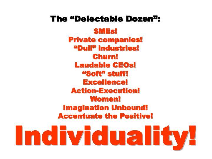 """The """"Delectable Dozen"""":"""