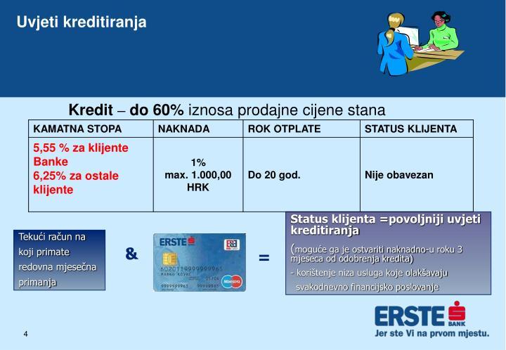 Uvjeti kreditiranja