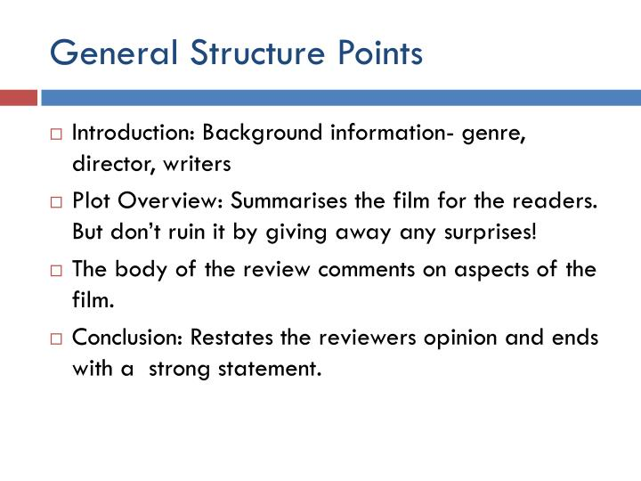 General Structure Points