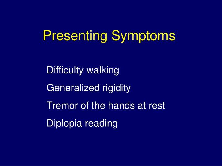 Presenting Symptoms