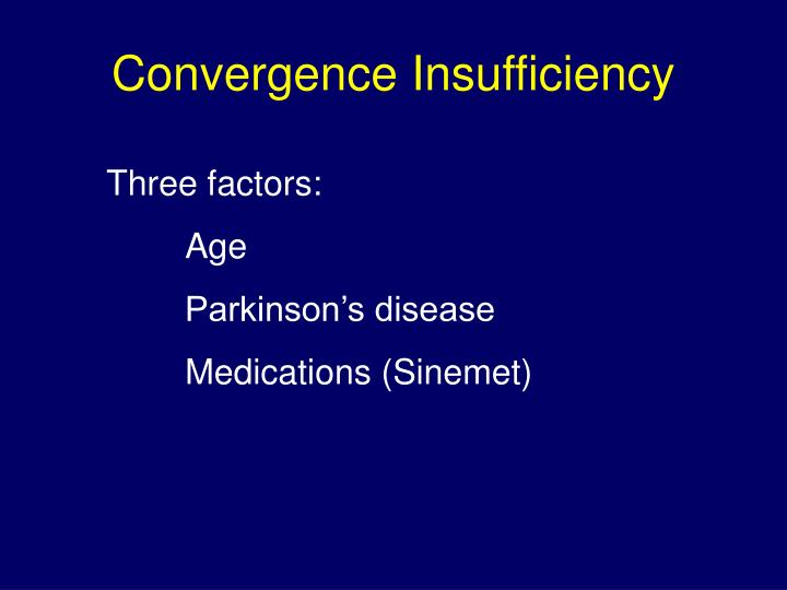 Convergence Insufficiency
