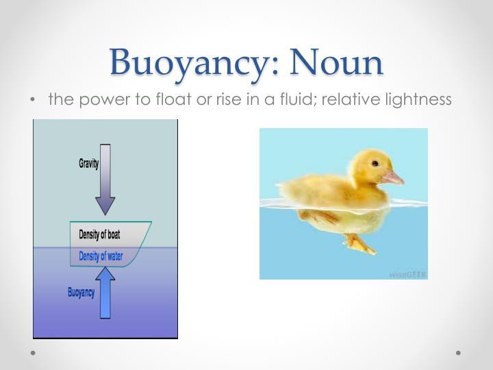 Buoyancy: Noun