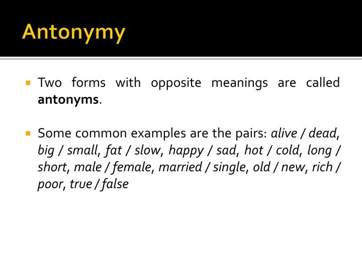 Antonymy