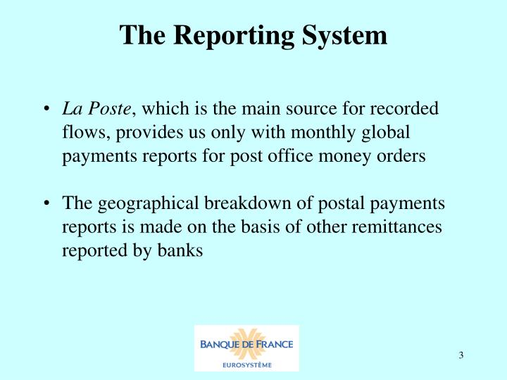 The reporting system1