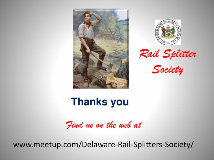 Rail Splitter Society