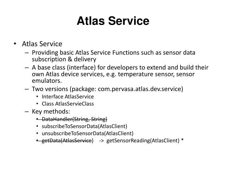 Atlas Service