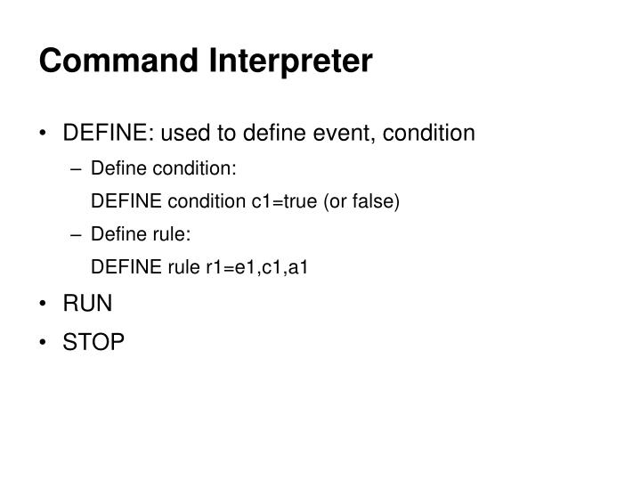 Command Interpreter