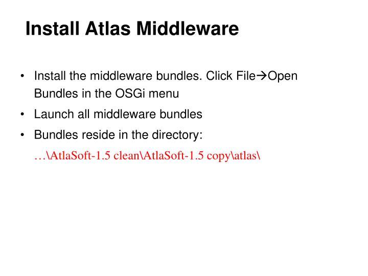 Install Atlas Middleware