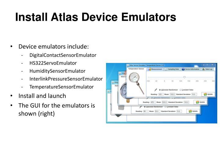Install Atlas Device Emulators