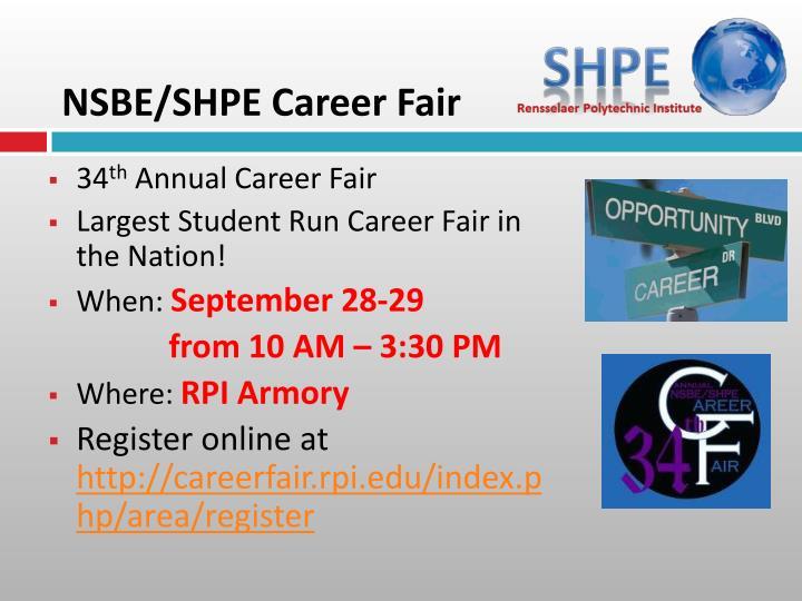 NSBE/SHPE Career Fair