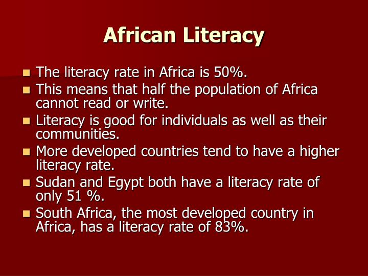 African Literacy